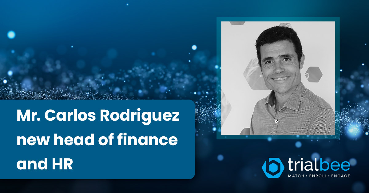 Trialbee Attracts Mr. Carlos Rodriguez As Head of Finance and HR