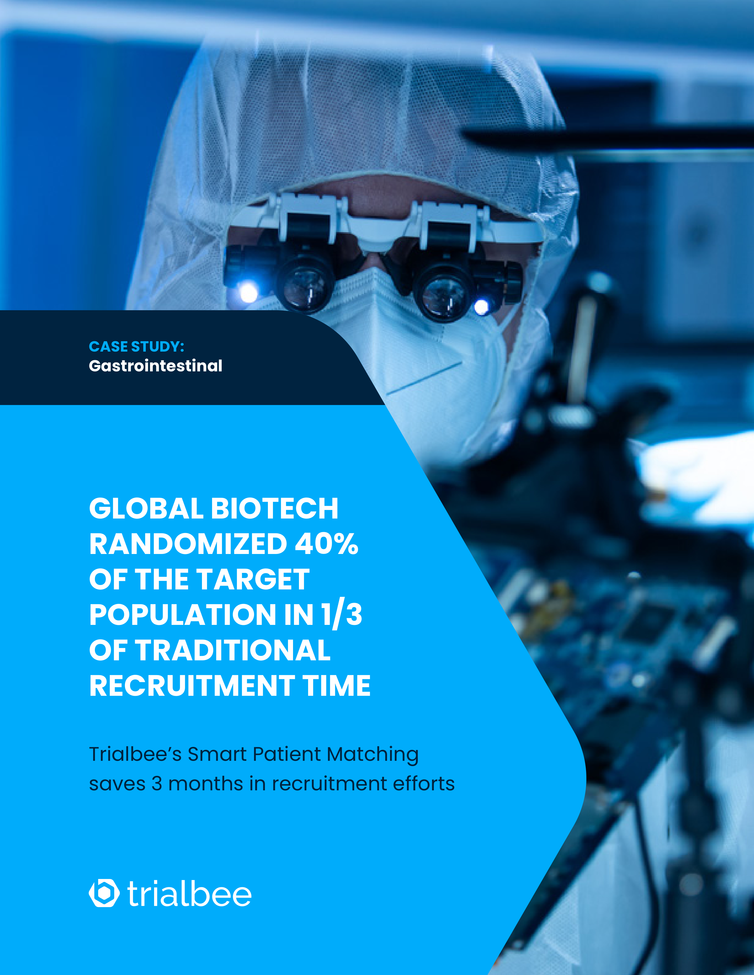 Global Biotech Randomized 40% of the Target Population in 1/3 of Traditional Recruitment Time