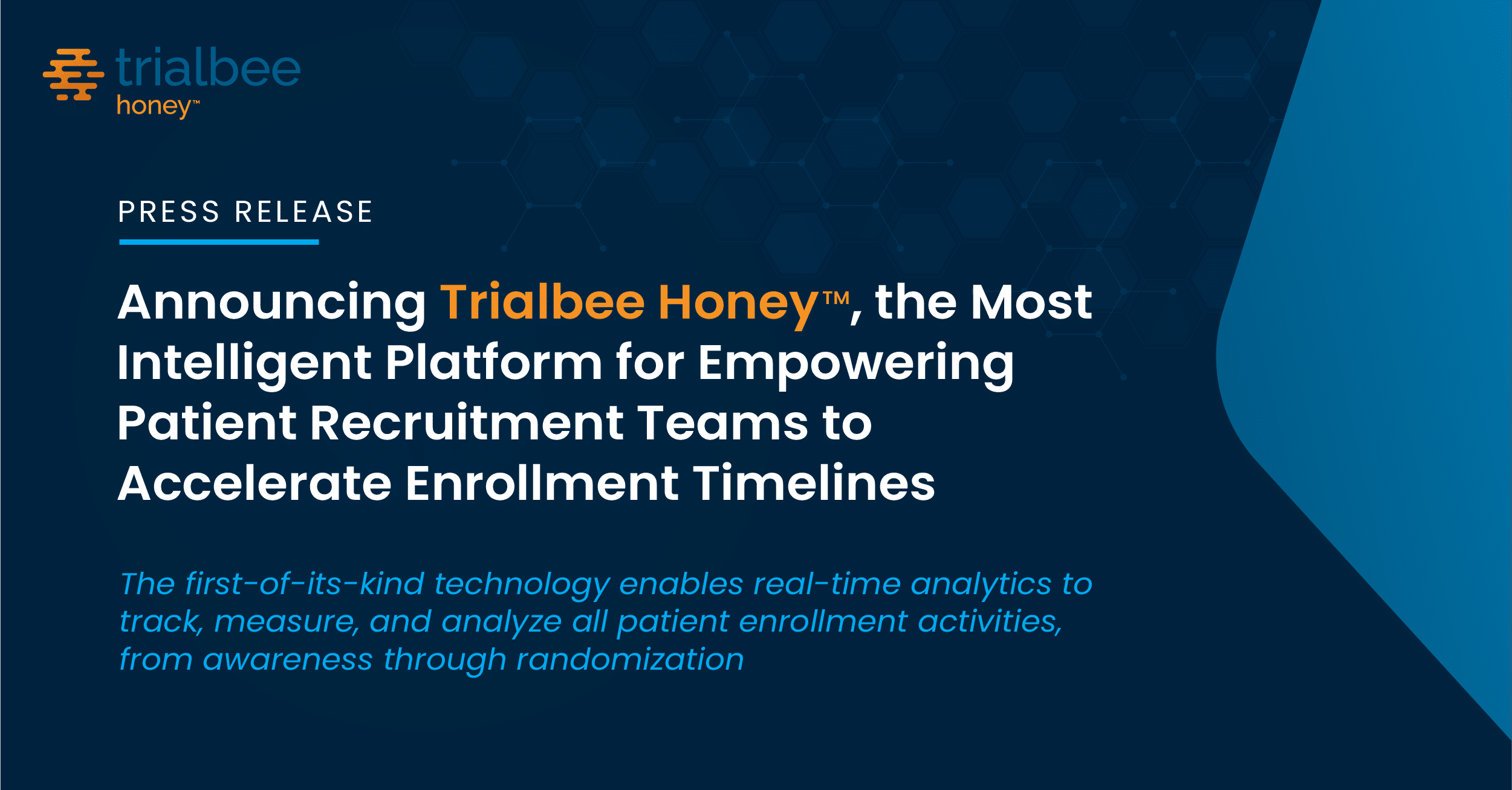 Announcing Trialbee Honey™, the Most Intelligent Platform for Empowering Patient Recruitment Teams to Accelerate Enrollment Timelines